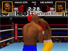 In game image of Boxing Legends of the Ring on the Nintendo SNES.
