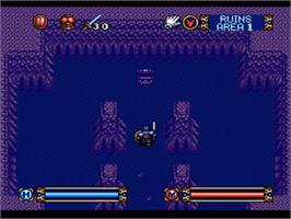 In game image of Brandish on the Nintendo SNES.