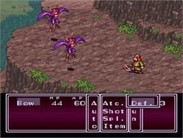 In game image of Breath of Fire II: Shimei no Ko on the Nintendo SNES.