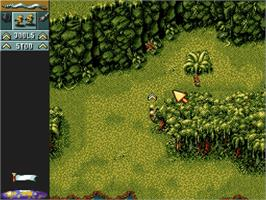 In game image of Cannon Fodder on the Nintendo SNES.