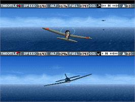 In game image of Carrier Aces on the Nintendo SNES.