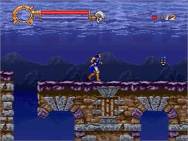 In game image of Castlevania: Dracula X on the Nintendo SNES.