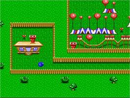 In game image of Claymates on the Nintendo SNES.