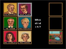 In game image of Clue on the Nintendo SNES.