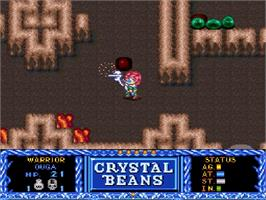 In game image of Crystal Beans From Dungeon Explorer on the Nintendo SNES.