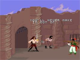 In game image of Cutthroat Island on the Nintendo SNES.