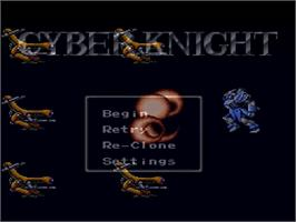 In game image of Cyber Knight on the Nintendo SNES.