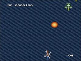 In game image of D-Force on the Nintendo SNES.