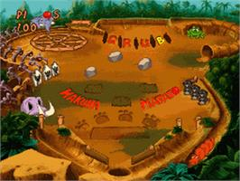 In game image of Disney's Timon & Pumbaa's Jungle Games on the Nintendo SNES.