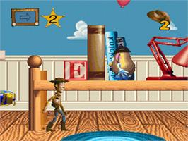 In game image of Disney's Toy Story on the Nintendo SNES.