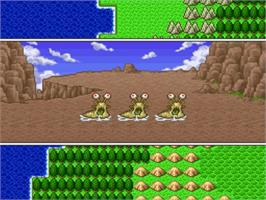 In game image of Dragon Quest I & II on the Nintendo SNES.
