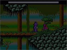 In game image of Eek! the Cat on the Nintendo SNES.