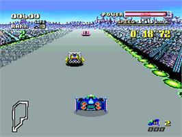 In game image of F-Zero on the Nintendo SNES.