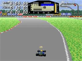 In game image of F1ROC: Race of Champions on the Nintendo SNES.