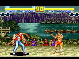 In game image of Fatal Fury 2 on the Nintendo SNES.