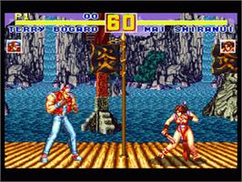 In game image of Fatal Fury Special on the Nintendo SNES.