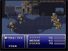 In game image of Final Fantasy III on the Nintendo SNES.