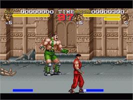 In game image of Final Fight 3 on the Nintendo SNES.