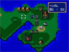 In game image of Fire Emblem: Monsho no Nazo on the Nintendo SNES.