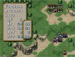 In game image of Fire Emblem: Seisen no Keifu on the Nintendo SNES.