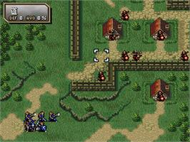 In game image of Fire Emblem: Thracia 776 on the Nintendo SNES.