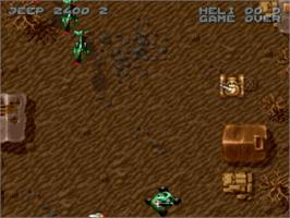 In game image of Firepower 2000 on the Nintendo SNES.