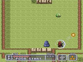 In game image of Firestriker on the Nintendo SNES.
