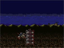 In game image of Gemfire on the Nintendo SNES.