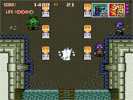 In game image of Gunpuru: Gunman's Proof on the Nintendo SNES.