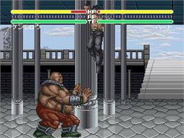 In game image of Hokuto no Ken 6: Gekitou Denshouken Haou e no Michi on the Nintendo SNES.