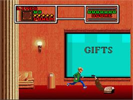 In game image of Home Alone 2: Lost in New York on the Nintendo SNES.
