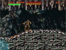In game image of Indiana Jones' Greatest Adventures on the Nintendo SNES.