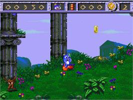 In game image of Izzy's Quest for the Olympic Rings on the Nintendo SNES.
