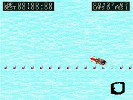 In game image of Kawasaki Caribbean Challenge on the Nintendo SNES.
