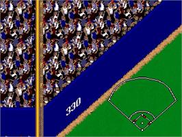 In game image of Ken Griffey Jr Presents Major League Baseball on the Nintendo SNES.