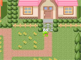 In game image of Kero Kero Keroppi no Bouken Nikki: Nemureru Mori no Keroleen on the Nintendo SNES.