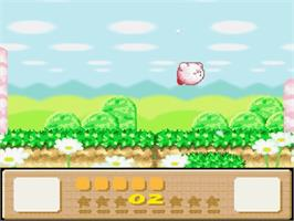 In game image of Kirby's DreamLand 3 on the Nintendo SNES.