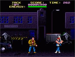 In game image of Last Action Hero on the Nintendo SNES.