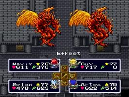 In game image of Lufia & the Fortress of Doom on the Nintendo SNES.