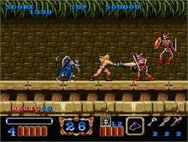 In game image of Magic Sword on the Nintendo SNES.
