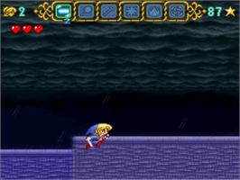 In game image of Magical Pop'n on the Nintendo SNES.