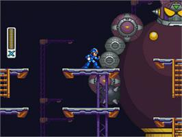 In game image of Mega Man X2 on the Nintendo SNES.