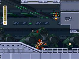 In game image of Mega Man X3 on the Nintendo SNES.