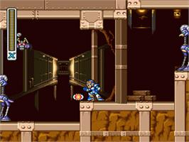In game image of Mega Man X on the Nintendo SNES.