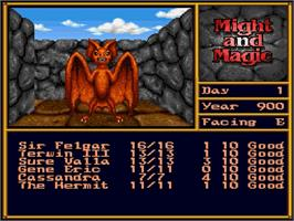 In game image of Might and Magic II: Gates to Another World on the Nintendo SNES.