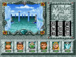 In game image of Might and Magic III: Isles of Terra on the Nintendo SNES.
