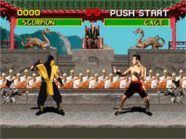 In game image of Mortal Kombat on the Nintendo SNES.