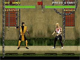 In game image of Mortal Kombat II on the Nintendo SNES.
