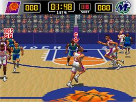 In game image of NBA Give 'n Go on the Nintendo SNES.