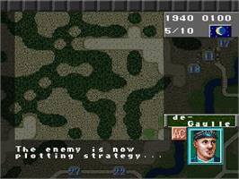 In game image of Operation Europe: Path to Victory 1939-45 on the Nintendo SNES.